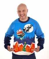 Heren kersttrui sleigh ride trend