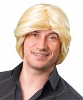 Heren pruik blond haar trend