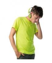 Heren shirts neon geel trend
