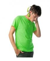 Heren shirts neon groen trend