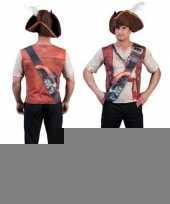 Heren t-shirt met piraten opdruk 3d trend