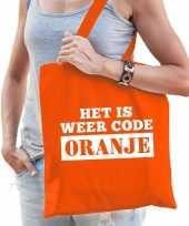 Het is weer code oranje tasje voor dames trend
