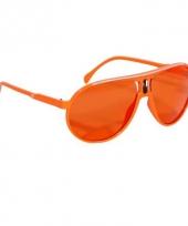 Hippe oranje bril met oranje glazen trend