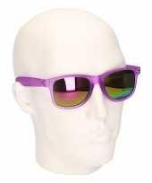 Hippe zonnebril fuchsia met spiegelglazen trend