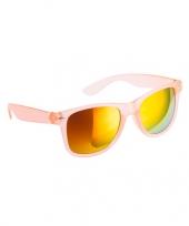 Hippe zonnebril oranje met spiegelglazen trend