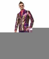 Hippie broek paars met wijde pijpen voor heren trend