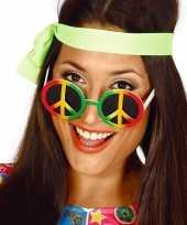 Hippie flower power peace verkleed bril trend