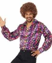Hippie peace overhemd voor heren trend