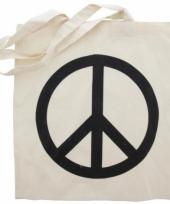 Hippie tas met peace teken trend