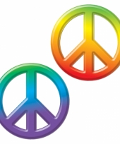 Hippie thema decoratie peace trend