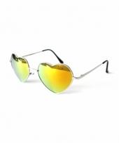 Hippie zonnebril hartvorm goud trend