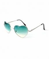 Hippie zonnebril hartvorm groen trend