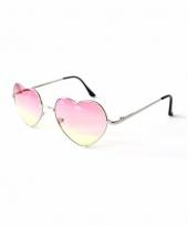 Hippie zonnebril hartvorm roze trend 10087765