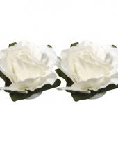 Hobby bloemetjes wit 1 5 cm trend