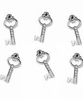 Hobby materiaal sleuteltjes 25 stuks trend 10082266