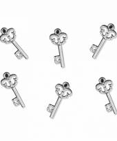 Hobby materiaal sleuteltjes 25 stuks trend