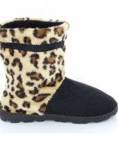 Hoge luipaard pantoffels bruin voor dames trend
