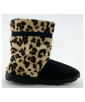 Hoge luipaard pantoffels bruin voor meisjes trend