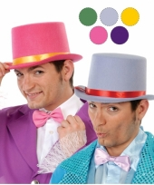 Hoge roode clowns hoed van vilt trend