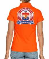 Holland drinking team poloshirt oranje voor dames trend