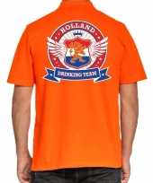 Holland drinking team poloshirt oranje voor heren trend