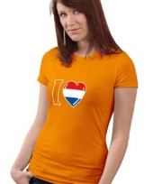 Hollands dames shirt oranje trend
