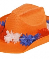 Hollandse oranje cowboyhoeden trend