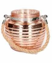 Home deco windlicht lantaarn koper 13 cm trend