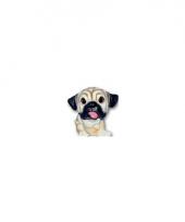 Honden beeldje mopshond puppie 13 cm trend