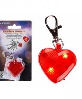 Honden halsband lichtje hart 4 cm trend