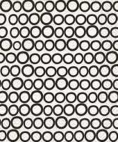 Horeca servetten zwart wit rondjes 20x trend
