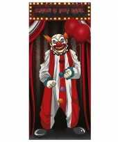 Horror clown poster 75 x 150 cm halloween decoratie trend
