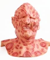 Horror feest masker verbrande man trend