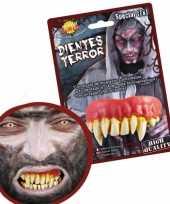 Horror gebitje met monster tanden trend