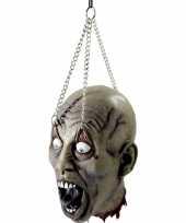 Horror hoofd aan ketting trend