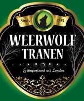 Horror thema weerwolf fles etiketten trend