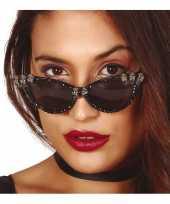 Horror verkleed zonnebril met schedels voor dames trend
