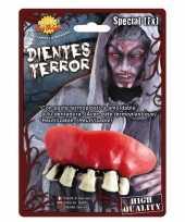 Horror zombie gebit neptanden halloween accessoire trend