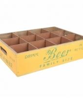 Houten bier dienblad 35 x 26 5 cm trend