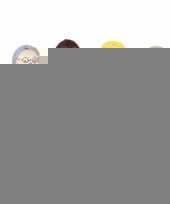 Houten buigbare poppetjes 6 stuks trend