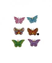 Houten decoratie vlinder bruin trend