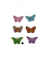 Houten decoratie vlinder groen trend