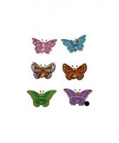 Houten decoratie vlinder paars trend