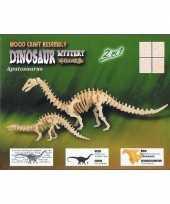 Houten dinosauriers bouwpakket trend