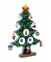 Houten kerstboom inclusief hangers trend