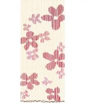 Houten kralen bloem deurgordijn 220 cm trend