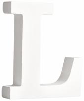 Houten letter l 11 cm trend