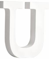 Houten letter u 11 cm trend