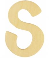 Houten namen letter s 6 cm trend