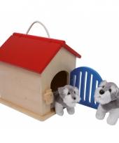 Houten speelgoed hondenhok trend